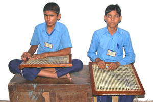 Earn while you Learn - Canning of Chairs by blind Students